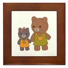 Teddy Bear Siblings Framed Tile