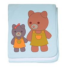 Teddy Bear Siblings baby blanket