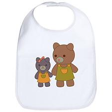 Teddy Bear Siblings Bib