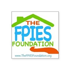 """The FPIES Foundation Square Sticker 3"""" x 3"""""""