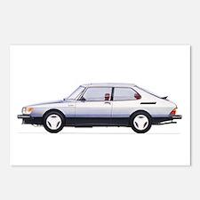 Silver Saab 900 Postcards (Package of 8)