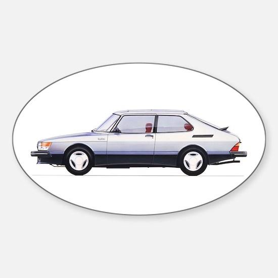 Silver Saab 900 Decal