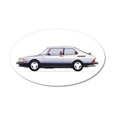 Silver Saab 900 Wall Decal