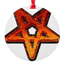 Heavy Metal Pentagram Ornament