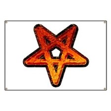 Heavy Metal Pentagram Banner