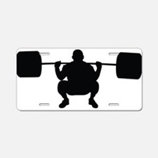 Lifting Weight Aluminum License Plate