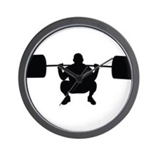 Lifting Weight Wall Clock
