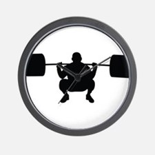 Lifting Weight Wall Clock