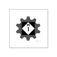 "Cute Woodward Square Sticker 3"" x 3"""