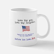 Love thy gun, Love thy neighbor Mug