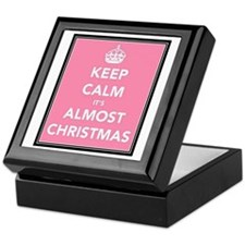 Keep Calm It's Almost Christmas Keepsake Box