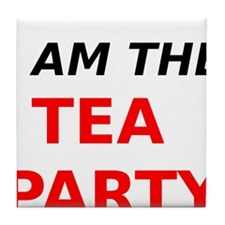 I am the Tea Party Tile Coaster