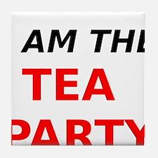 I am the Tea Party Tile Coaster