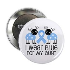 "Aunt Light Blue Awareness 2.25"" Button"