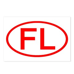 FL Oval - Florida Postcards (Package of 8)