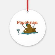Papa Bear Ornament (Round)