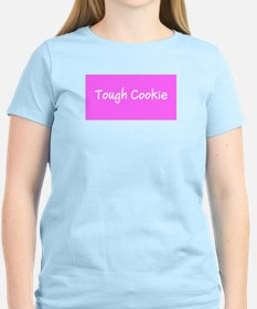 Tough Cookie Breast Cancer Pink Designer T-Shirt