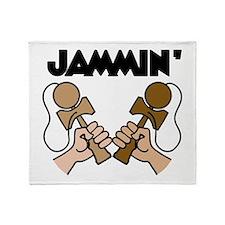 Kendama Jammin' Throw Blanket