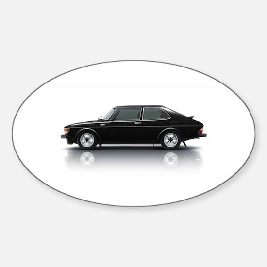 Black Saab 900 Decal