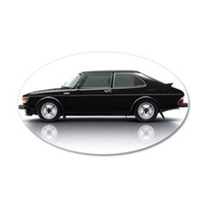 Black Saab 900 Wall Decal