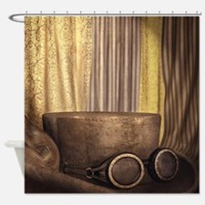 Steam Dreams: Top Hat and Goggles Shower Curtain