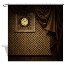 Steam Dreams: Curtains Clock and Wall Shower Curta