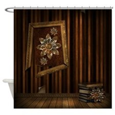 Steam Dreams: Picture Frame Books Shower Curtain