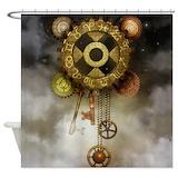 Steampunk Shower Curtains