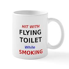Hit with Flying Toilet while Smoking Mug
