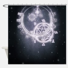 Steam Dreams: Moonlight Shower Curtain