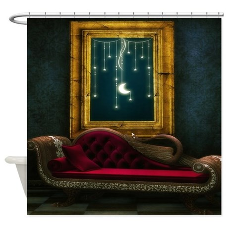 Steam Dreams: Chaise and Frame Shower Curtain