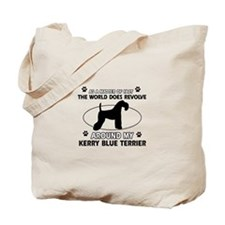 Kerry Blue Terrier Dog breed designs Tote Bag