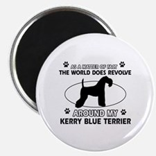Kerry Blue Terrier Dog breed designs Magnet