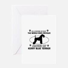 Kerry Blue Terrier Dog breed designs Greeting Card