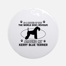 Kerry Blue Terrier Dog breed designs Ornament (Rou