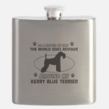 Kerry Blue Terrier Dog breed designs Flask