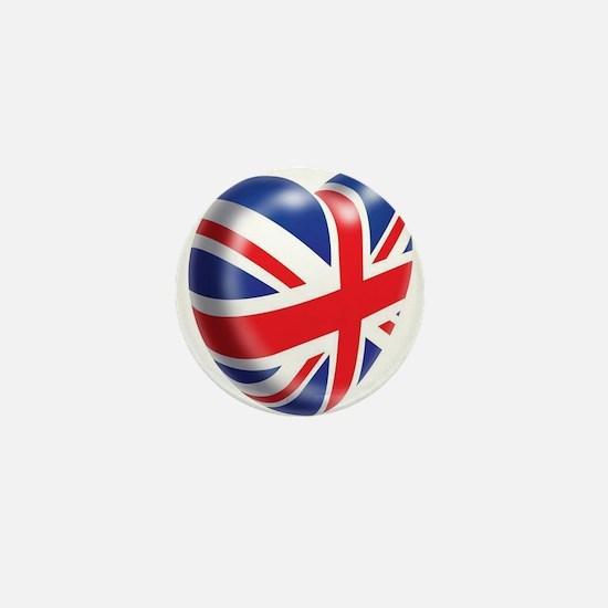 Union Jack Heart Mini Button