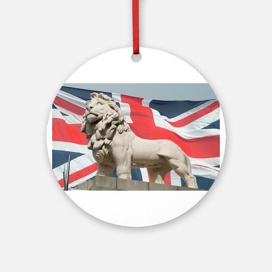 Trafalgar Lions Union Jack Ornament (Round)