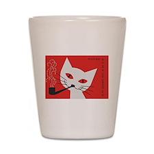 Pipe Cat Shot Glass