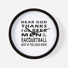 Beer Men and Racquetball Wall Clock