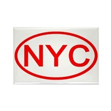 NYC Oval - New York City Rectangle Magnet