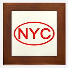 NYC Oval - New York City Framed Tile