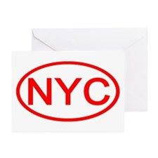 NYC Oval - New York City Greeting Cards (Package o