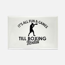 Boxing enthusiast designs Rectangle Magnet