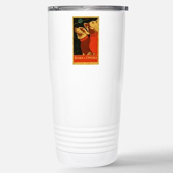 Belka and Strelka Travel Mug