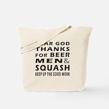 Beer Men and Squash Tote Bag