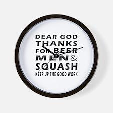 Beer Men and Squash Wall Clock