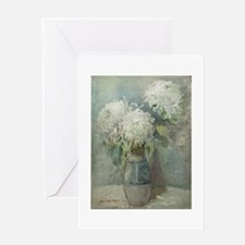 Mums in a Vase Greeting Card