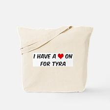 Heart on for Tyra Tote Bag