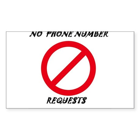 No phone number requests Sticker